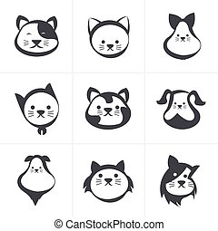 cat icon, vector illustration