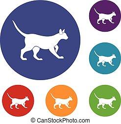 Cat icons set