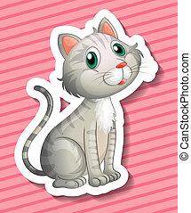 Cat - Illustration of a cat with background
