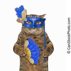 Cat in a masquerade mask 2