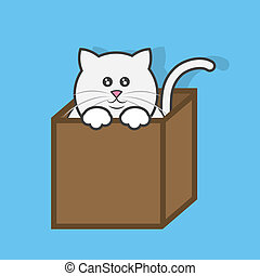 Cat In Box  - Cat popping out of cardboard box