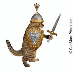 Cat in knight armor 2