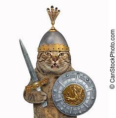Cat in knight armor 3