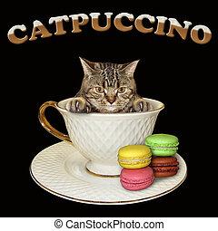 Cat inside coffee cup 2