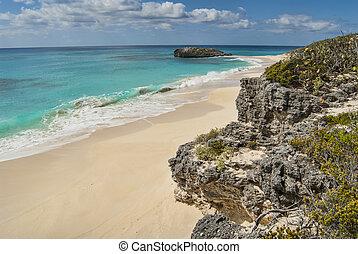 shoreline of Cat Island Bahamas