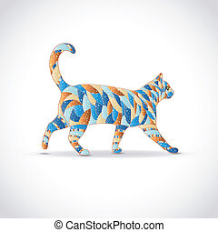 cat., kleurrijke, abstract