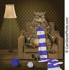 Cat knitter 1