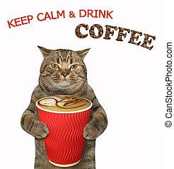 Cat likes black coffee 2