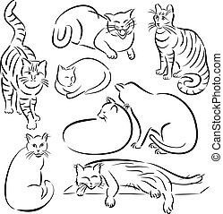 Cat Line Designs-Set 1