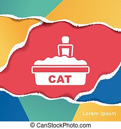 cat litter box icon