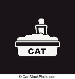 cat litter box icon