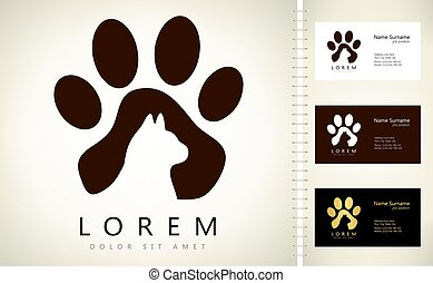 Cat logo vector animal design