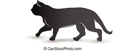 Cat logo vector id card image