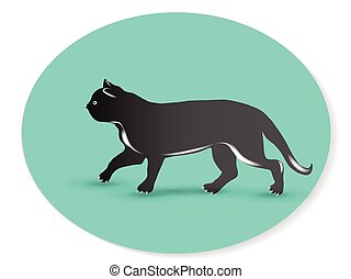 Cat logo vector id card image