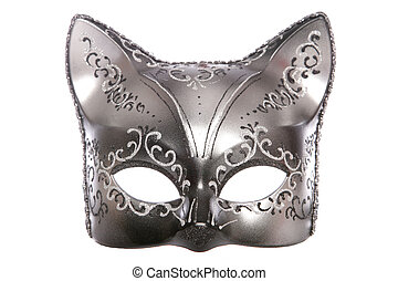 cat masquerade mask cutout