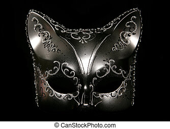 cat masquerade mask