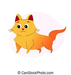 Cat - modern vector flat illustration.