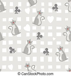 Cat-mouse pattern