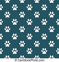 Cat of dog paw pattern - vector seamless texture made with...
