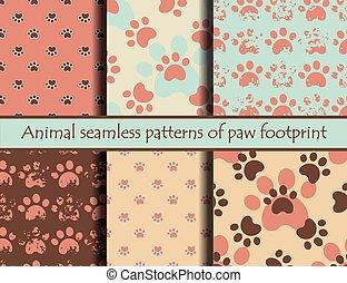 Cat or dog footprints