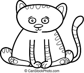 cat or kitten coloring page