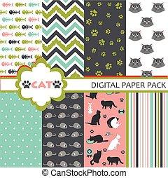 Cat pattern set