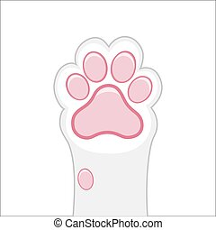 Cat Paw Flat Background Cats Cartoon Pet Paws Print Kitten Texture Pets Shelter Vector Poster Cat Paw Flat Background