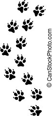 Cat paw print track vector illustration