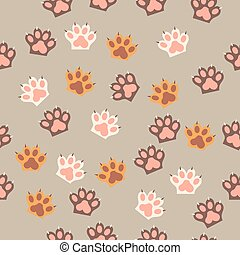 cat paw print with claws