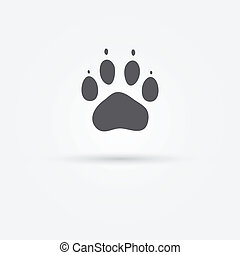 Cat paw - vector footprint icon or symbol