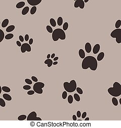 Cat paws seamless vector background