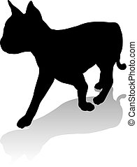 Cat Pet Animal Silhouette - An animal silhouette of a pet...
