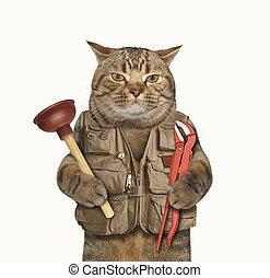 Cat plumber 1