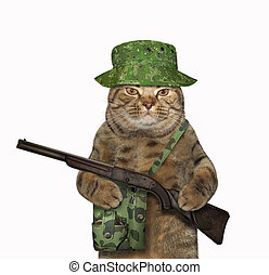 Cat ranger with a rifle 2