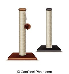 Cat scratching posts - Vector cat scratching posts isolated...
