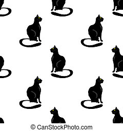 Cat Seamless Pattern.