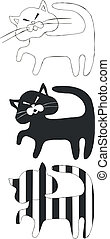 Cat set black 05