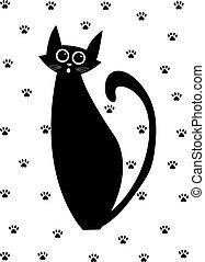 Cat Set. Vector Illustration Cartoon