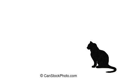 Cat silhouette - cat shape