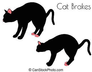 cat silhouette in Brake Pose