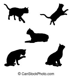 Cat Silhouettes - 1