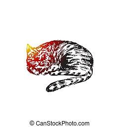 Cat sketch,