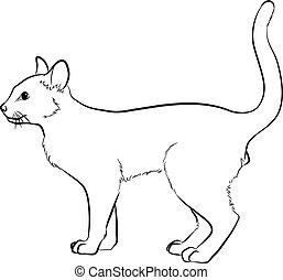 Cat Sketching Vector Illustration