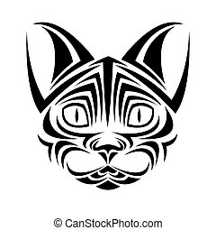 cat tattoo animal design