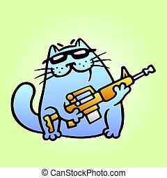 Cat the mercenary professional will carry out the task of any complexity