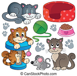 Cat theme collection 1 - eps10 vector illustration.