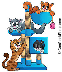 Cat theme image 1 - eps10 vector illustration.