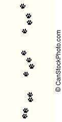 Cat Tracks Black Footprints