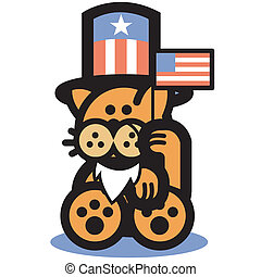 Cat Uncle Sam 4th Of July Clip Art