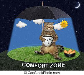 Cat under a black umbrella 2